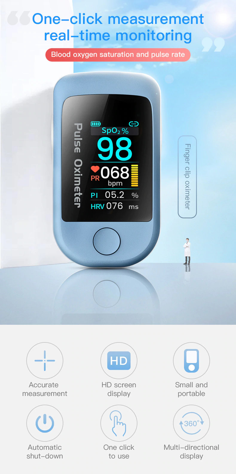 Oximeter with HRV feature